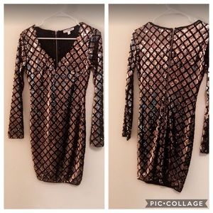Black and gold dress (small)